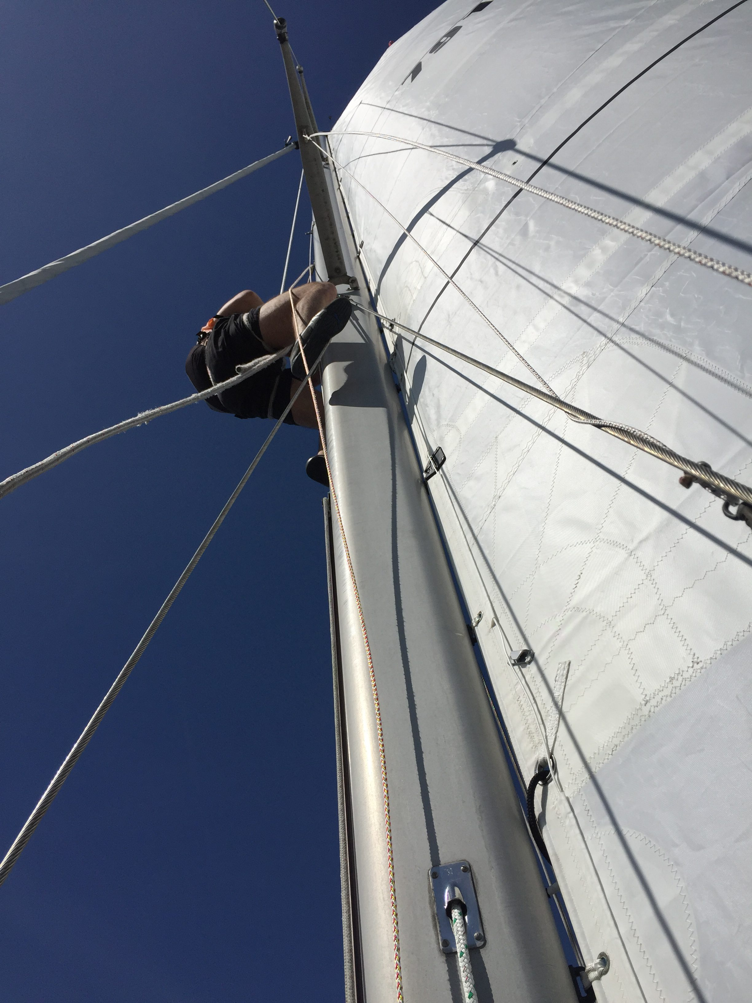 John going aloft